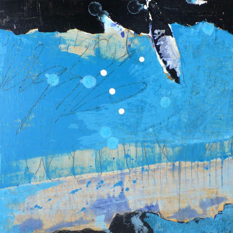 cornelia-komor-tiefen_0002_Wasserblau 2009 40x40