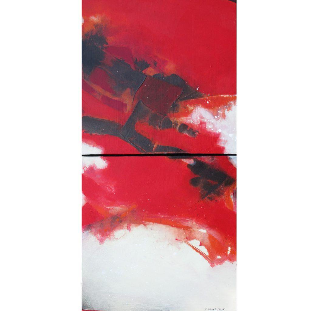 cornelia-komor-tiefen_0012_rotes Duett 40x60 2015